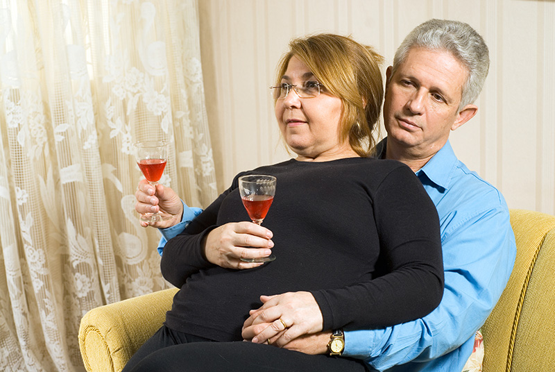 Awkward Couple with Wine