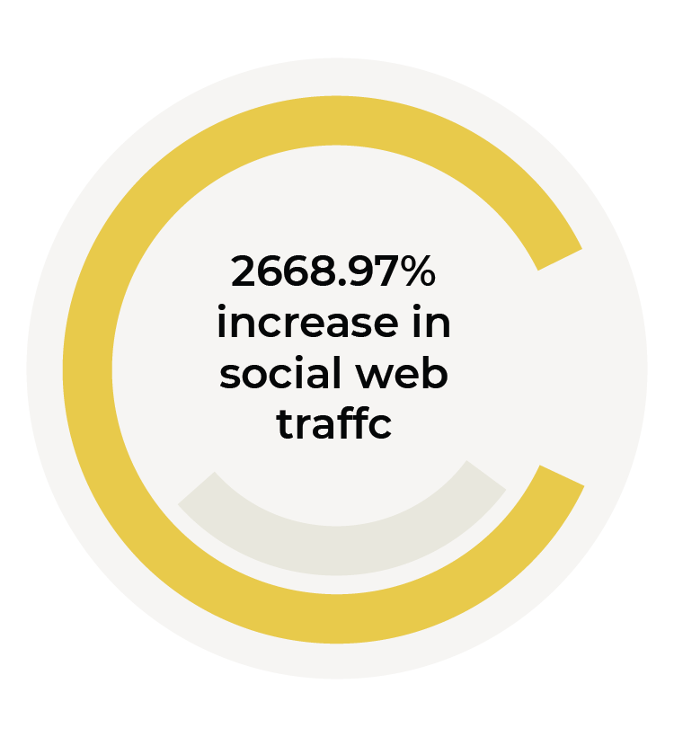 2668.97% increase in social growth graphic