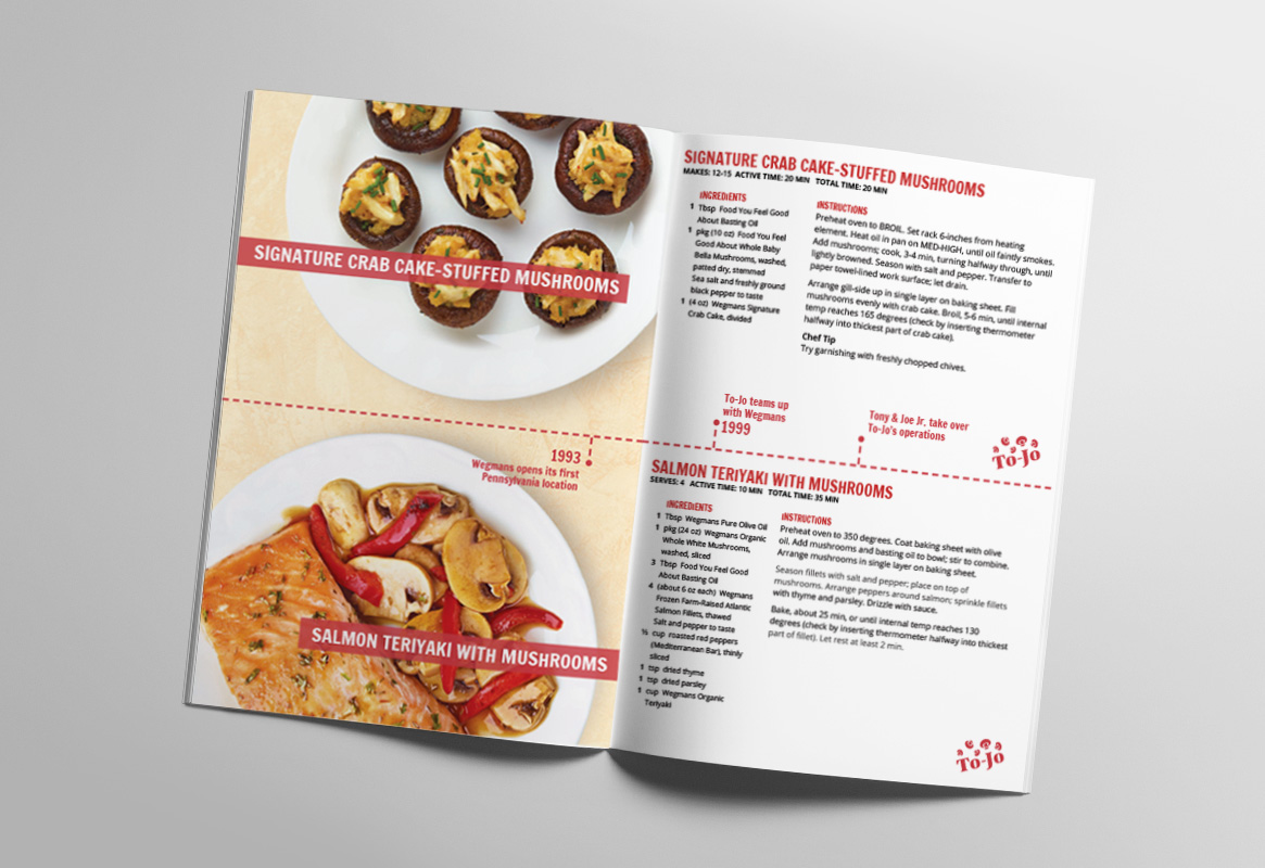 Pamphlet with To-Jo recipes