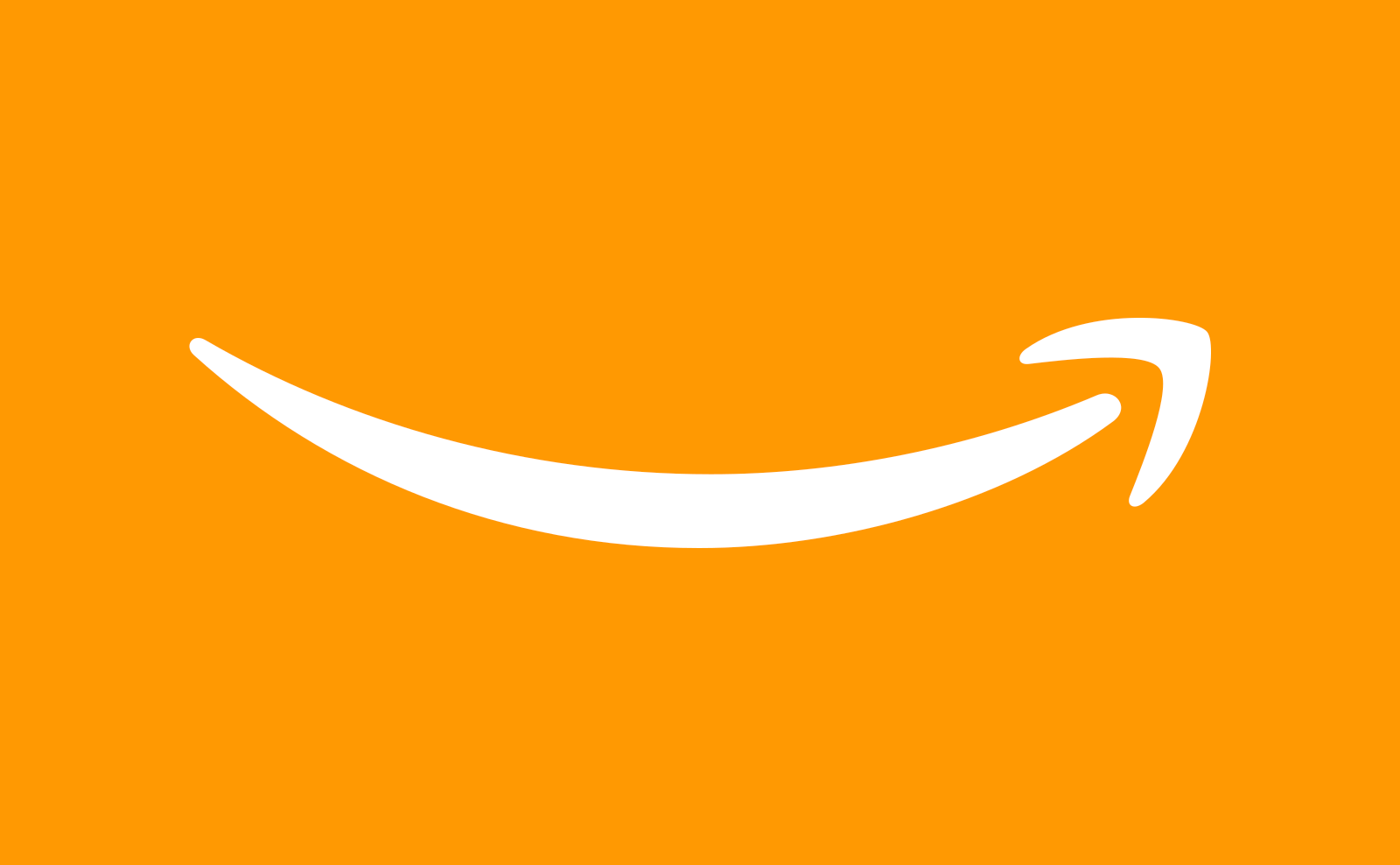 Amazon arrow logo on an orange background