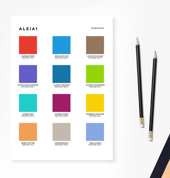 Aleia's color palette
