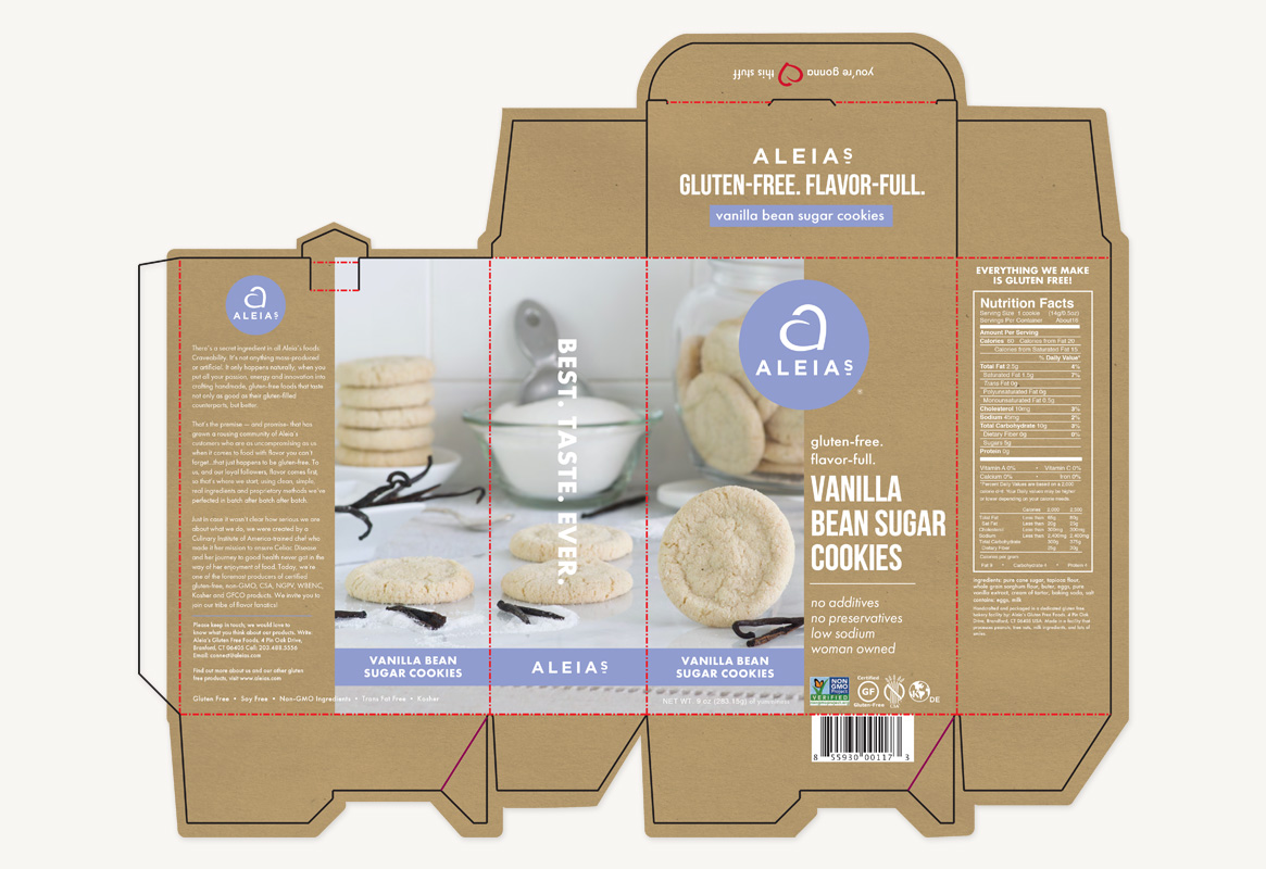 Aleia's Packaging Design