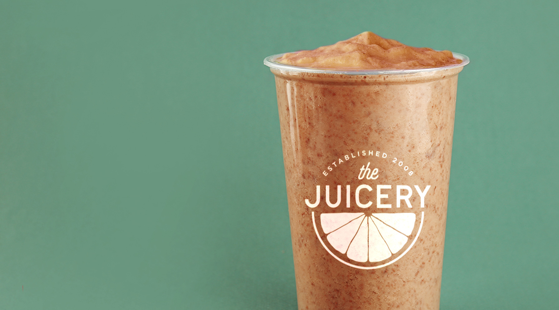 The Juicery Logo on Smoothie