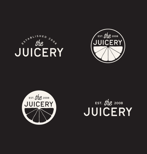 alt juicery logos in white