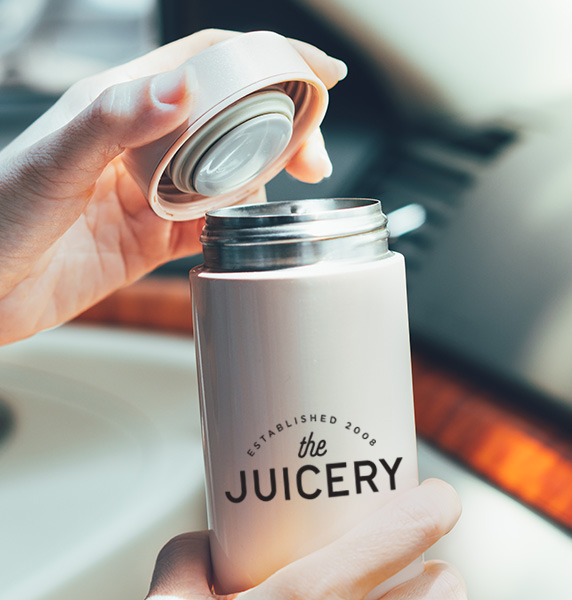 juicery logo on container