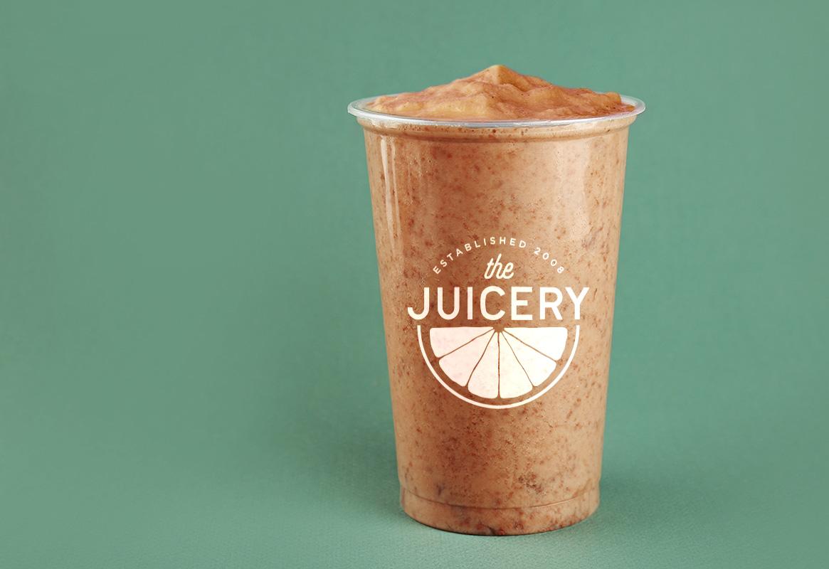 juicery logo on smoothie