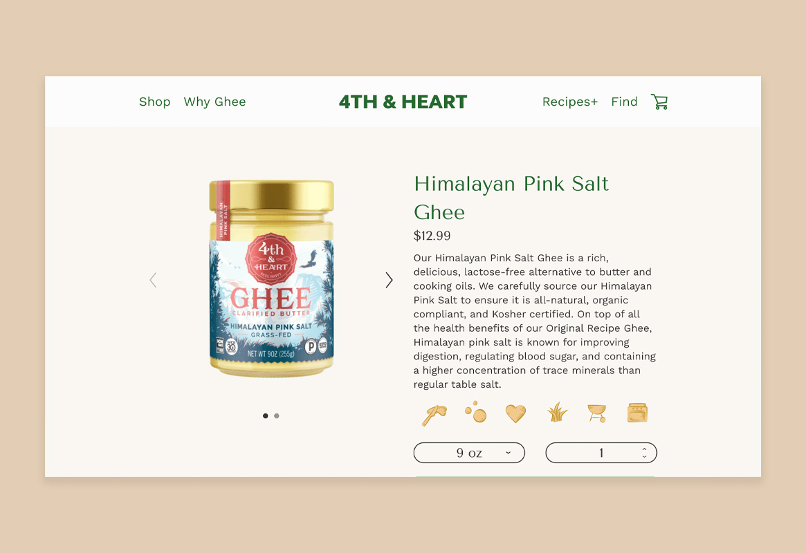 4th & Heart Product Page