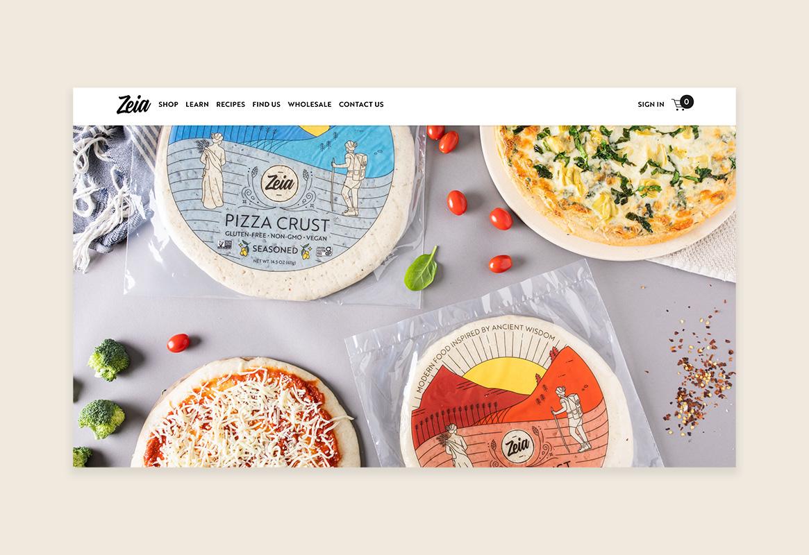 Zeia Foods Gluten-Free Pizza Crust Website