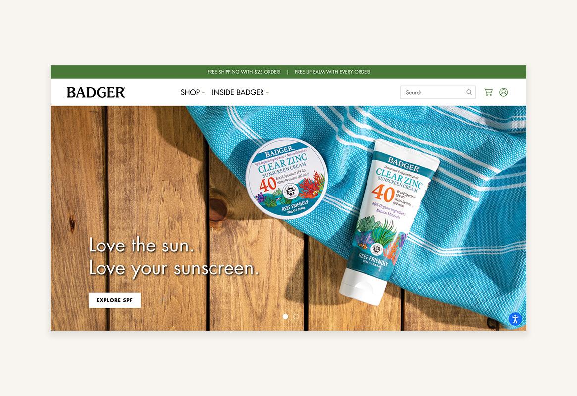 Badger homepage